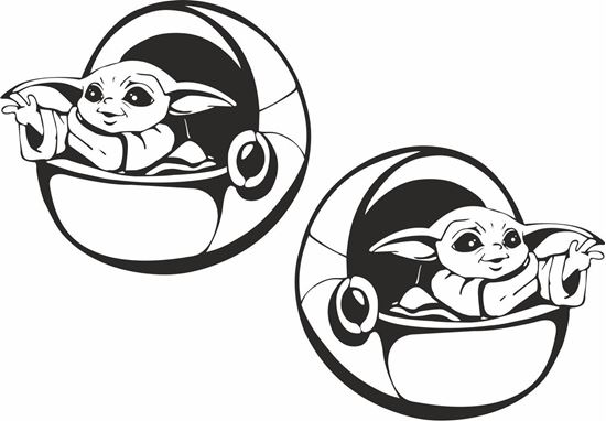 Picture of Yoda Decals / Stickers