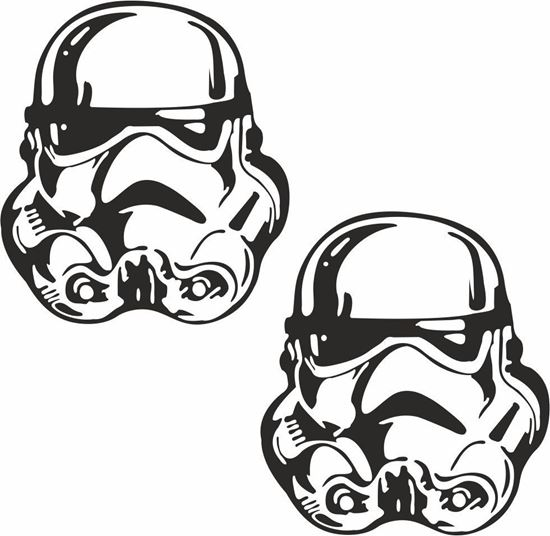 Picture of Storm Trooper Decals / Stickers