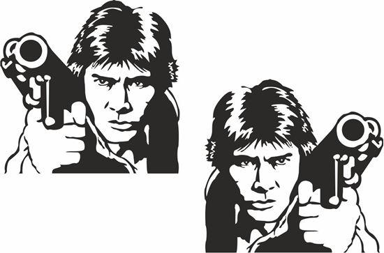 Picture of Luke Skywalker Decals /Stickers