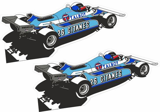 Picture of Talbot F1 Jacques Laffite Gitanes Decals / Stickers