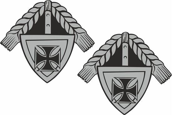 Picture of German Iron Cross Decals / Stickers