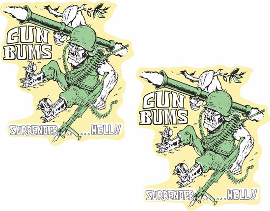 Picture of Guns Bums Surrender... Decals / Stickers