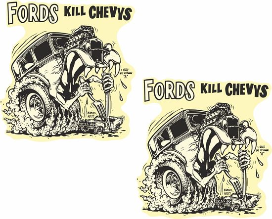 Picture of Fords kill Chevys Decals / Stickers
