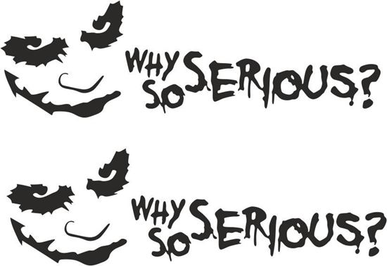 Picture of Joker, Why so serious? Decals / Stickers