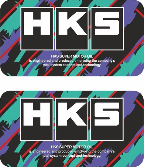 Picture of HKS Super Motor Oil Decals / Stickers