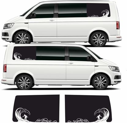 Picture of VW T5 / T6  short Wheel Base panel block out Surf Vinyl / Stickers