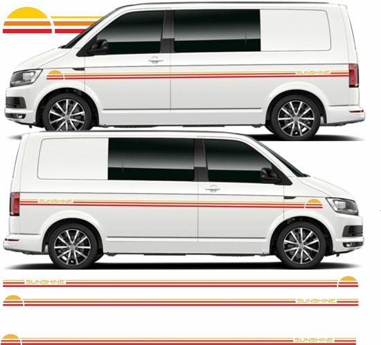 """Picture of VW T5 / T6 """"Sunshine"""" side Graphics / Stickers"""