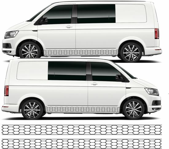 Picture of VW T5 / T6  Hexagon Stripes / Stickers