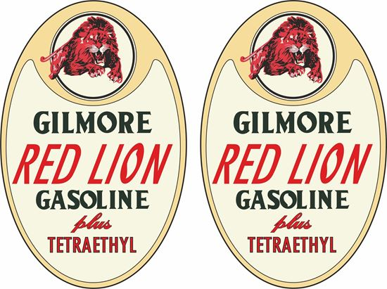 Picture of Gilmore Red Lion Gasoline Plus Decals / Stickers