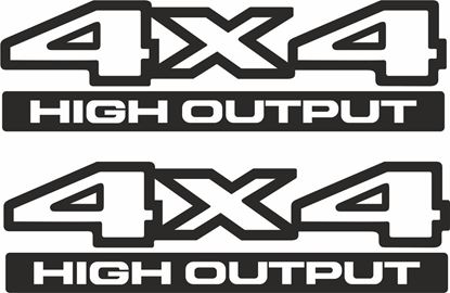 Picture of Jeep 4x4 High Output replacement Decals / Stickers