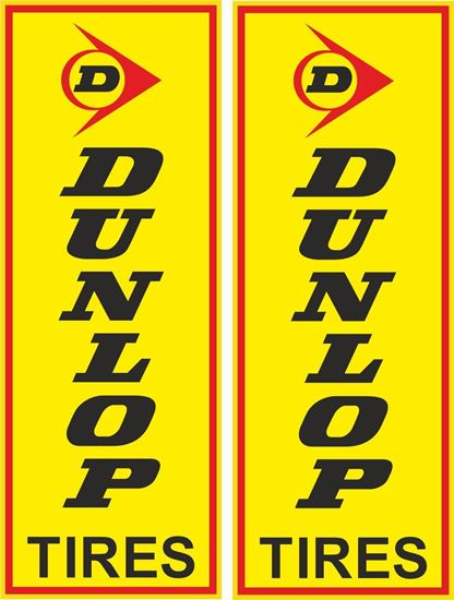 Picture of Dunlop Tires Decals / Stickers