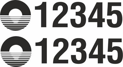 Picture of Narrow Boat Number Decals  / Stickers