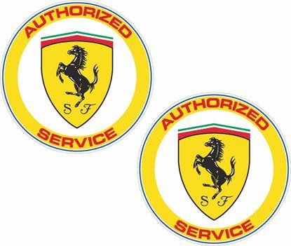 Picture of Ferrari Authorised Service Decals / Stickers