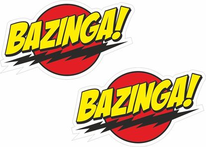 Picture of Bazinga! Decals / Stickers