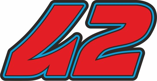 """Picture of """"42"""" Pecco Bagnaia Track and street race nose cone number Decal / Sticker"""