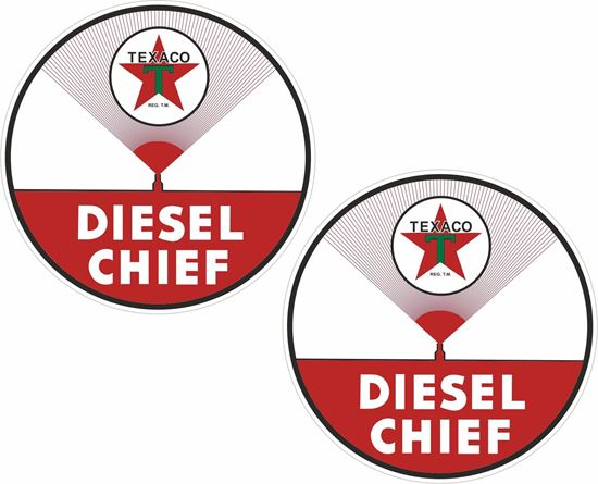 Picture of Texaco Diesel Chief Decals / Stickers