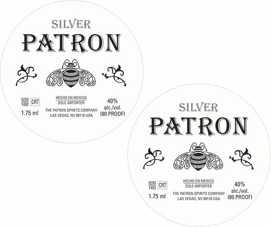 Picture of Silver Patron Decals / Stickers